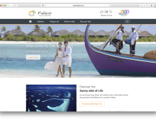UX for Visit Maldives website